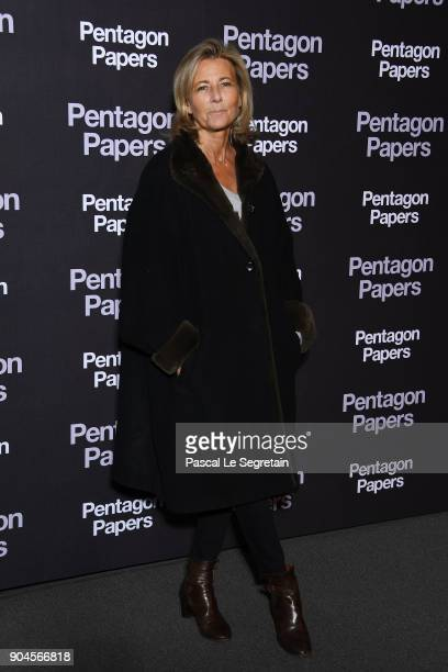 Claire Chazal attends 'Pentagon Papers' Premiere at Cinema UGC Normandie on January 13 2018 in Paris France