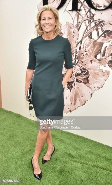 Claire Chazal attends the Christian Dior Haute Couture Fall/Winter 20172018 show as part of Haute Couture Paris Fashion Week on July 3 2017 in Paris...
