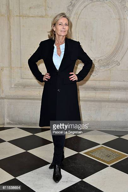 Claire Chazal attends the Christian Dior show of the Paris Fashion Week Womenswear Spring/Summer 2017 on September 30 2016 in Paris France