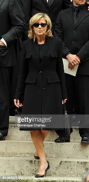 Claire Chazal attends Yves Saint Laurent's Funeral Service on June 5, 2008 at Eglise Saint-Roch in Paris, France. The designer Yves Saint Laurent who...