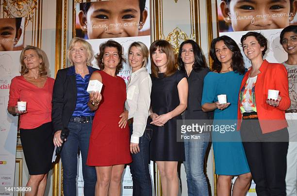 Claire Chazal Catherine Ceylac Marielle Fournier Sidonie Bonnec Isabelle Morizet Marie Drucker Faustine Bollaert Nathalie Renoux and Patricia Loison...