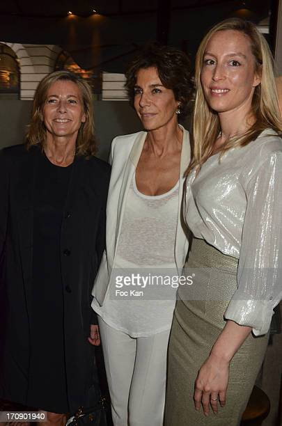 Claire Chazal Christine Orban and Adelaide de Clermont Tonnerre attend the 'Montalembert Literary Awards 2013' Woman Literary Awards at Hotel...