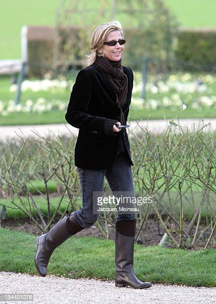 Claire Chazal during Paris Fashion Week Haute Couture Spring/Summer 2007 Christian Dior Arrivals at Bois de Boulogne in Paris France