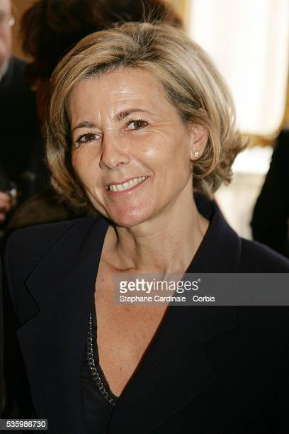 """Claire Chazal during the ceremony awarding Karin Viard and Dominique Segall with the """"Chevalier des Arts et Lettres"""" by Renaud Donnedieu de Vabres."""