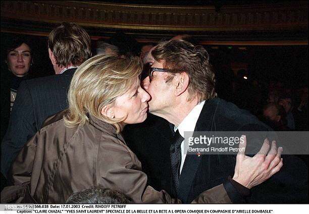 Claire Chazal Yves Saint Laurent play of Beauty and the Beast at the Comic opera of Paris along with Arielle Dombasle