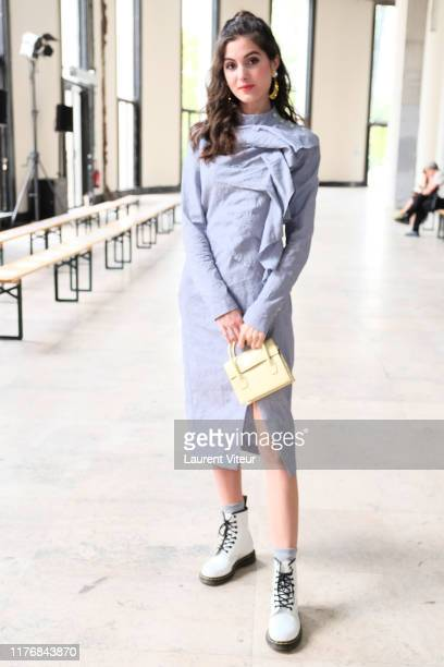 Claire Chust attends the Dawei Womenswear Spring/Summer 2020 show as part of Paris Fashion Week on September 24 2019 in Paris France