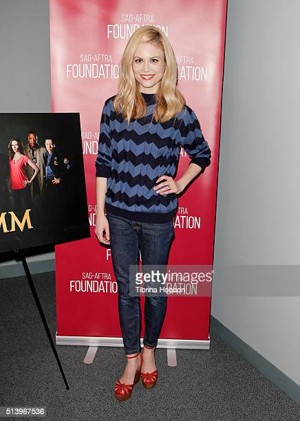 Claire Coffee attends the SAGAFTRA Foundation Conversations with the 'Grimm' cast at SAGAFTRA Foundation on March 5 2016 in Los Angeles California