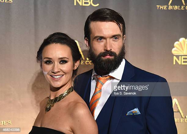 Claire Cooper and Emmett Scanlan attend the 'AD The Bible Continues' New York Premiere Reception at The Highline Hotel on March 31 2015 in New York...