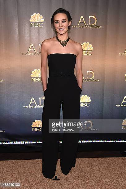 Claire Cooper attends the 'AD The Bible Continues' New York Premiere Reception at The Highline Hotel on March 31 2015 in New York City
