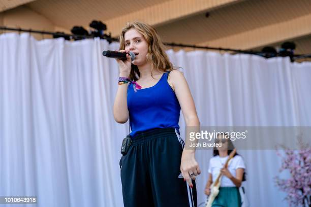 Claire Cottrill of Clairo performs at Lollapalooza 2018 at Grant Park on August 3 2018 in Chicago Illinois