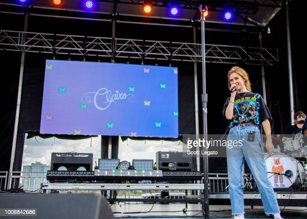 Claire Cottrill of Clairo performs on day one of Mo Pop Festival at West Riverfront Park on July 28 2018 in Detroit Michigan