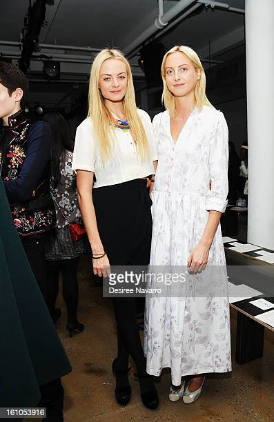 Claire CourtinClarins and Virginie CourtinClarins attend Suno during Fall 2013 MADE Fashion Week at Milk Studios on February 8 2013 in New York City