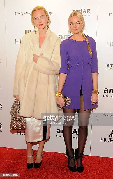 Claire CourtinClarins and Virginie CourtinClarins attend the amfAR New York Gala To Kick Off Fall 2012 Fashion Week at Cipriani Wall Street on...