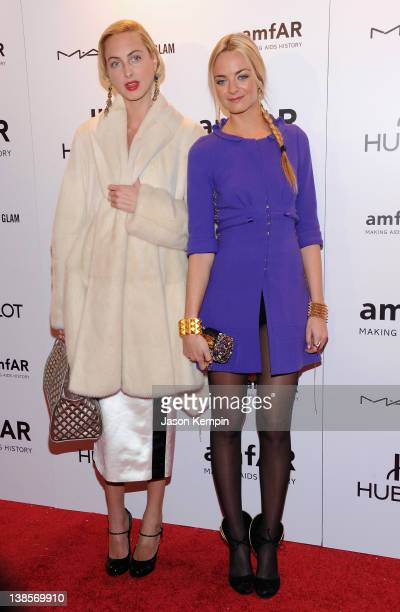 Claire CourtinClarins and Virginie CourtinClarins attend the amfAR New York Gala To Kick Off Fall 2012 Fashion Week Presented By Hublot at Cipriani...