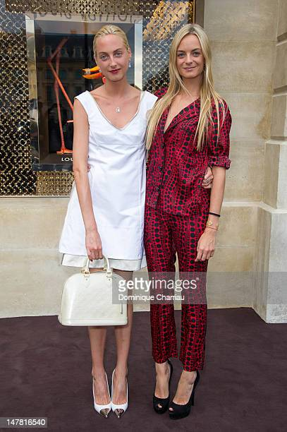Claire CourtinClarins and Virginie CourtinClarins attend the Louis Vuitton New Boutique Opening as part of Paris HauteCouture Fashion Week Fall /...