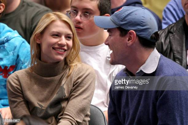 Claire Danes and Billy Crudup during Celebrities Attend the New Jersey Nets vs New York Knicks Game - December 26, 2005 at Madison Square Garden in...