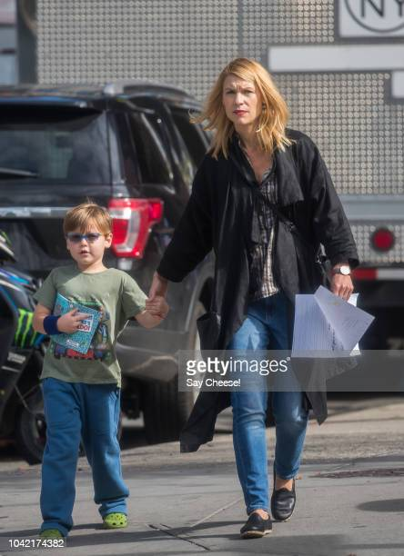 Claire Danes and Cyrus Dancy are seen on September 27 2018 in New York City