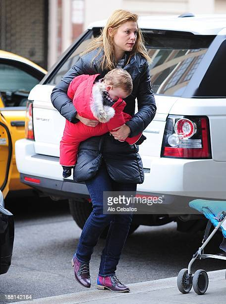 Claire Danes and Cyrus Michael Christopher Dancy are seen in Soho on November 15 2013 in New York City
