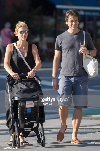 Claire Danes and Hugh Dancy are seen on September 5 2018 in New York City