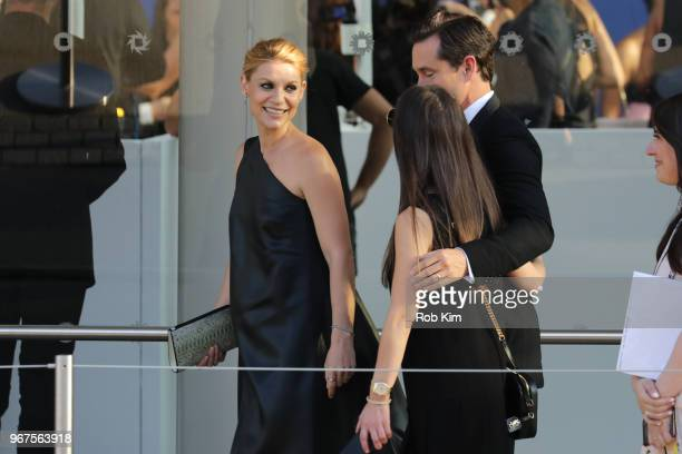 Claire Danes and Hugh Dancy arrive for the 2018 CFDA Fashion Awards at Brooklyn Museum on June 4, 2018 in New York City.