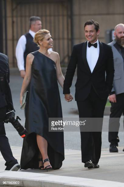 Claire Danes and Hugh Dancy arrive for the 2018 CFDA Fashion Awards at Brooklyn Museum on June 4 2018 in New York City