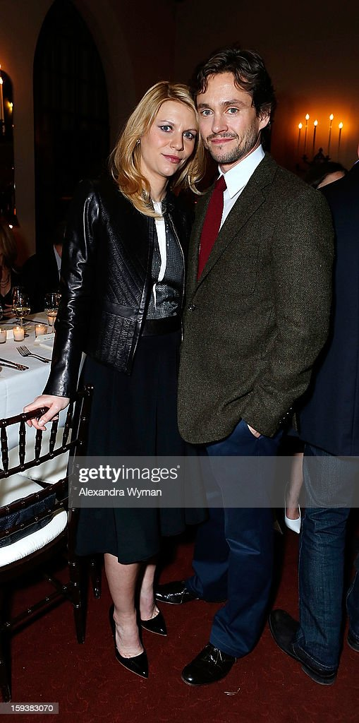 Claire Danes and Hugh Dancy at Showtime's dinner celebration of The 2013 Golden Globe Nominees held at The Chateau Marmont on January 12, 2013 in Los Angeles, California.