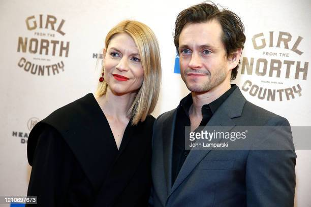 """Claire Danes and Hugh Dancy attend """"Girl From The North Country"""" Broadway opening night at Belasco Theatre on March 05, 2020 in New York City."""