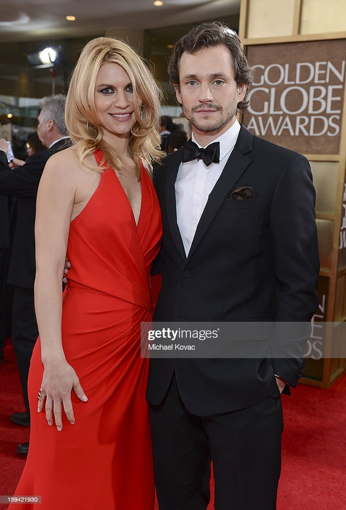 Claire Danes and Hugh Dancy attend Moet & Chandon At The 70th Annual Golden Globe Awards Red Carpet at The Beverly Hilton Hotel on January 13, 2013 in Beverly Hills, California.