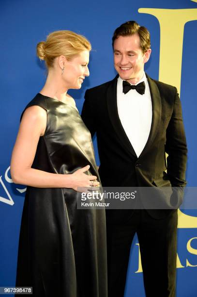 Claire Danes and Hugh Dancy attend the 2018 CFDA Fashion Awards at Brooklyn Museum on June 4 2018 in New York City