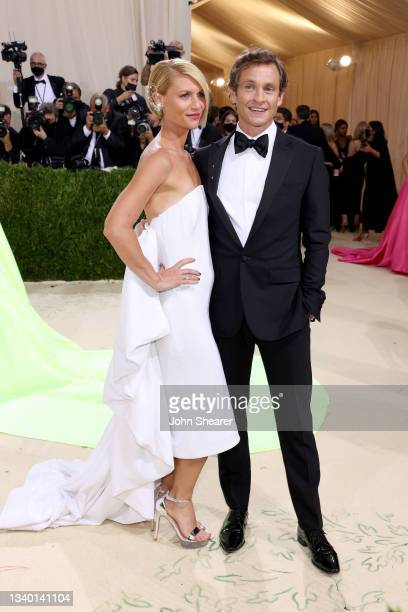 Claire Danes and Hugh Dancy attend The 2021 Met Gala Celebrating In America: A Lexicon Of Fashion at Metropolitan Museum of Art on September 13, 2021...