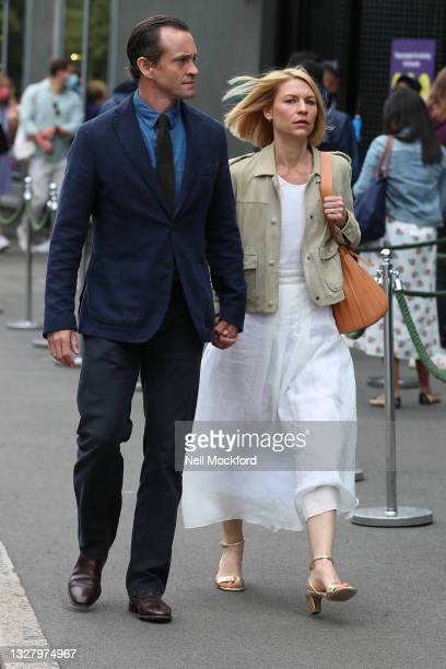 Claire Danes and Hugh Dancy attend Wimbledon Championships Tennis Tournament Ladies Final Day at All England Lawn Tennis and Croquet Club on July 10,...