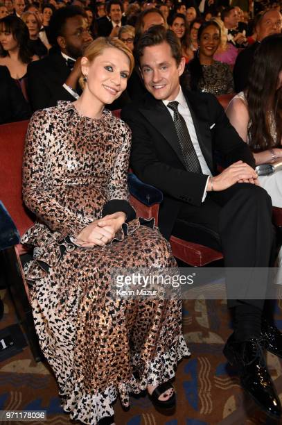 Claire Danes and Hugh Dancy pose in the audience during the 72nd Annual Tony Awards at Radio City Music Hall on June 10 2018 in New York City