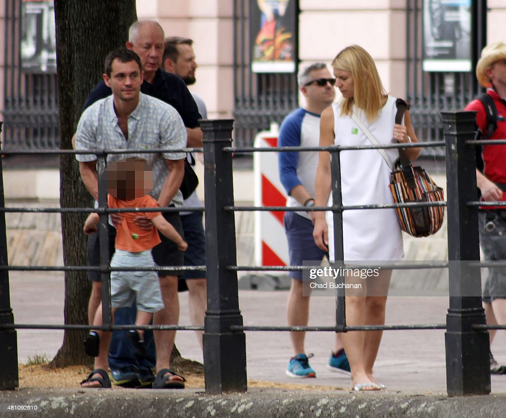 claire danes and hugh dancy sighted with son cyrus while