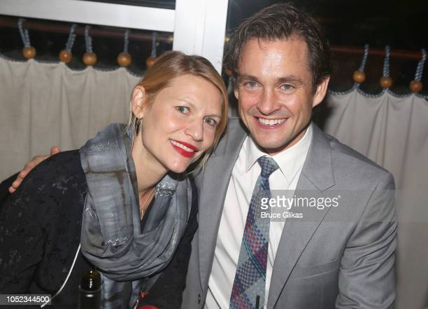 Claire Danes and husband Hugh Dancy pose at the opening night after party for the Roundabout Theater Company play 'Apologia' at Remi on October 16...