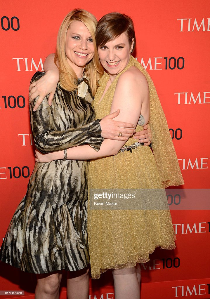 Claire Danes and Lena Dunham attend TIME 100 Gala, TIME'S 100 Most Influential People In The World at Jazz at Lincoln Center on April 23, 2013 in New York City.
