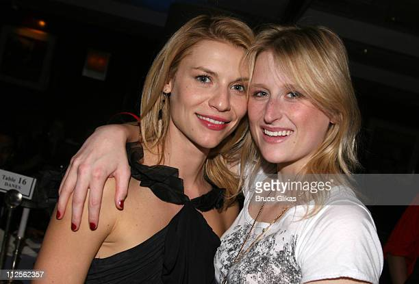 """Claire Danes and Mamie Gummer pose at The Opening Night Party for The Revival of """"Pygmalion"""" on Broadway at The Marriott Marquis on October 18, 2007..."""