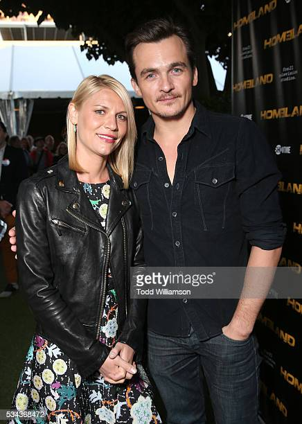 Claire Danes and Rupert Friend attend an Emmy For Your Consideration Event For Showtime's 'Homeland' at Zanuck Theater at 20th Century Fox Lot on May...