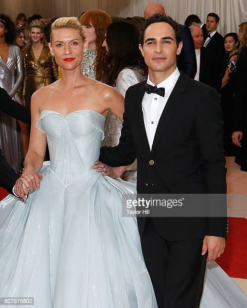 "Claire Danes and Zac Posen attend ""Manus x Machina: Fashion in an Age of Technology"", the 2016 Costume Institute Gala at the Metropolitan Museum of..."