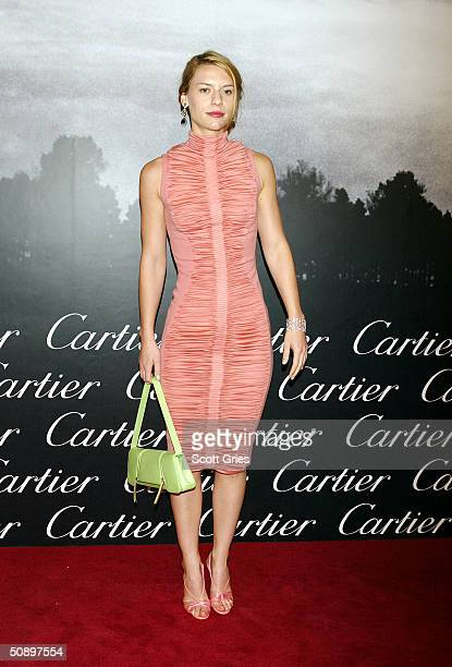 Claire Danes arrives at Santos Night the 100 Year Anniversary of the Cartier Santos Watch at The Armory May 25 2004 in New York City