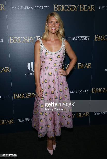 Claire Danes attends Sony Pictures Classics The Cinema Society host a screening of 'Brigsby Bear' at Landmark Sunshine Cinema on July 26 2017 in New...