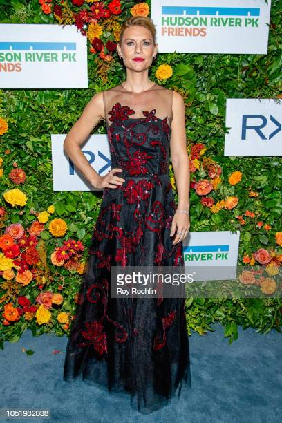 Claire Danes attends the 20th Anniversary Hudson River Park gala at Hudson River Park's Pier 62 on October 11 2018 in New York City