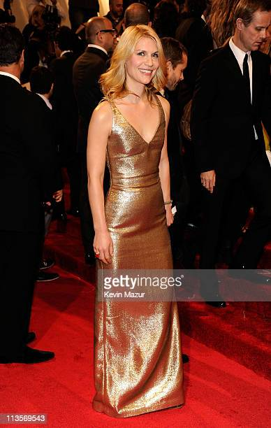 Claire Danes attends the Alexander McQueen Savage Beauty Costume Institute Gala at The Metropolitan Museum of Art on May 2 2011 in New York City