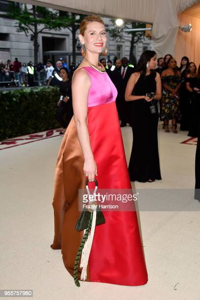 Claire Danes attends the Heavenly Bodies Fashion The Catholic Imagination Costume Institute Gala at The Metropolitan Museum of Art on May 7 2018 in...