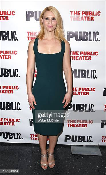 Claire Danes attends the OffBroadway Opening Night after party for 'Dry Powder' at the Public Theatre on March 22 2016 in New York City