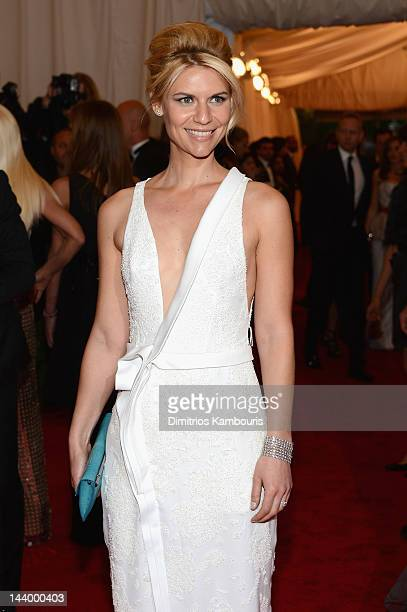 Claire Danes attends the 'Schiaparelli And Prada Impossible Conversations' Costume Institute Gala at the Metropolitan Museum of Art on May 7 2012 in...