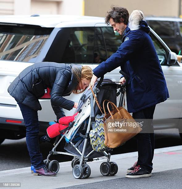 Claire Danes Cyrus Michael Christopher Dancy and Hugh Dancy are seen in Soho on November 15 2013 in New York City