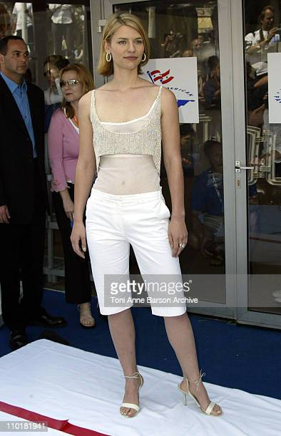 Claire Danes during 2003 Cannes Film Festival American Pavilion Ribbon Cutting at American Pavilion in Cannes France
