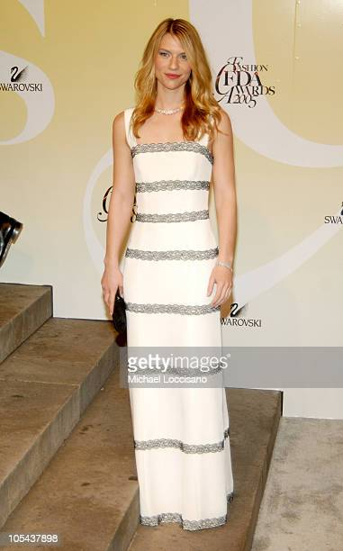 Claire Danes during 2005 CFDA Fashion Awards Arrivals at The New York Public Library in New York City New York United States