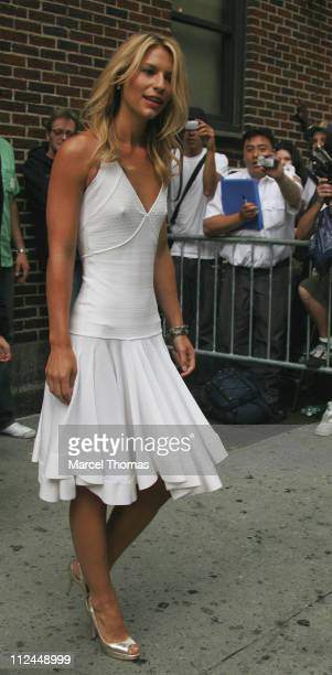Claire Danes during Claire Danes And Keith Olbermann Visit The Late Show With David Letterman June 27 2007 at The Ed Sullivan Theater in New York...