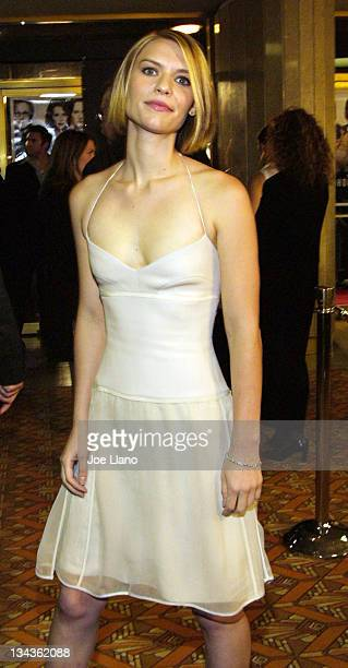 Claire Danes during 'The Hours' Premiere Los Angeles at Mann's National Theatre in Westwood California United States